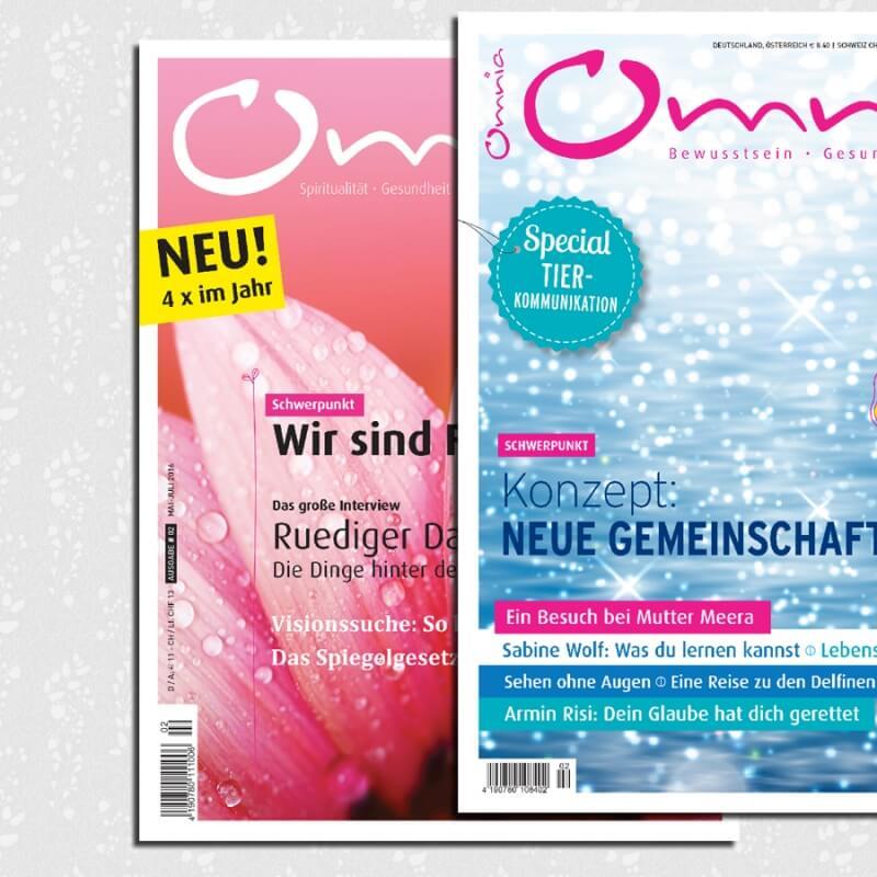 omnia magazin Freiheit – 2 Ausgaben: Familie & Gemeinschaft