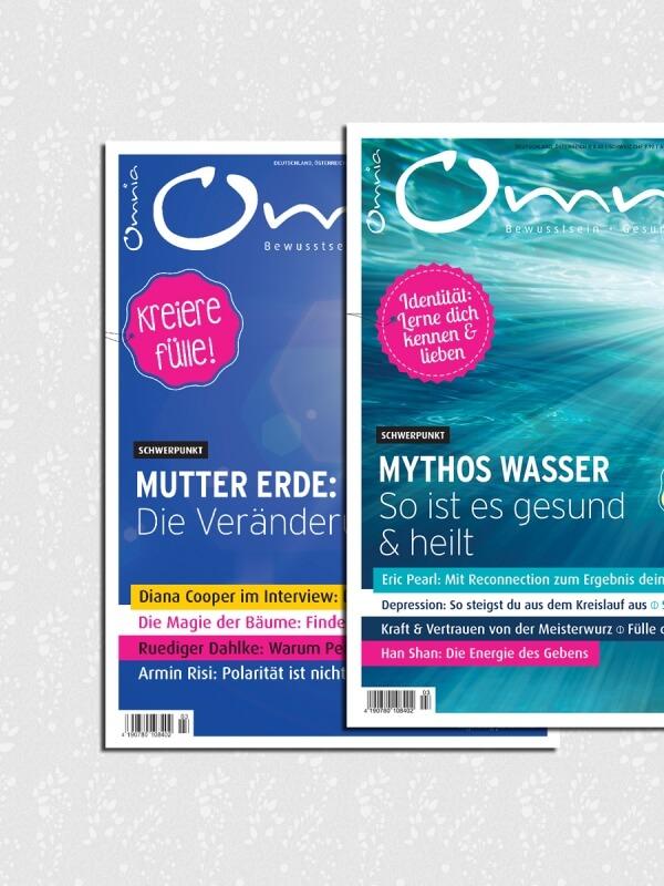 omnia magazin Freiheit – 2 Ausgaben: Mutter Erde & Mythos Wasser