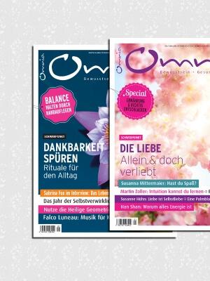 omnia magazin Freiheit – 2 Ausgaben: Dankbarkeit & Liebe