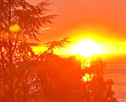 Zeitqualität September 2021 Sonnenuntergang