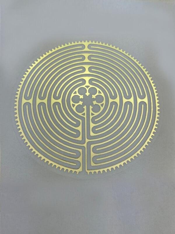 Labyrinth von Chartres aufkleber – groß