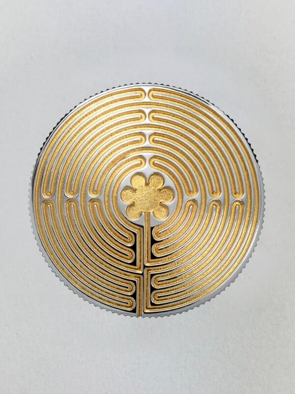 Labyrinth von Chartres gold