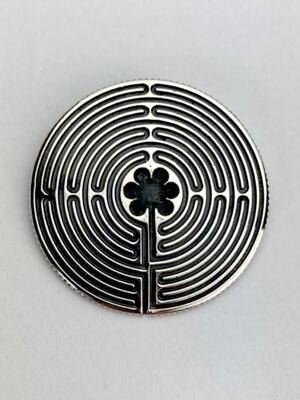 Labyrinth von Chartres silber