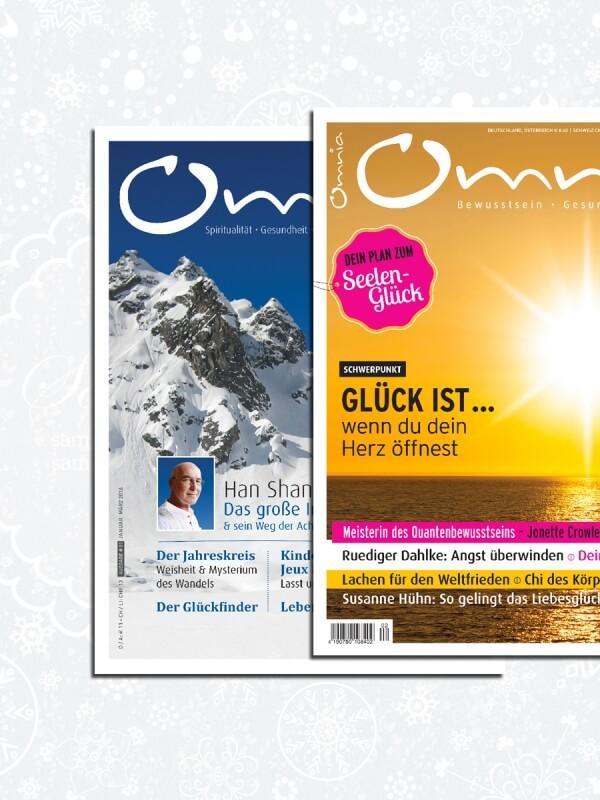 omnia magazin Freiheit – 2 Ausgaben Achtsamkeit & Glück